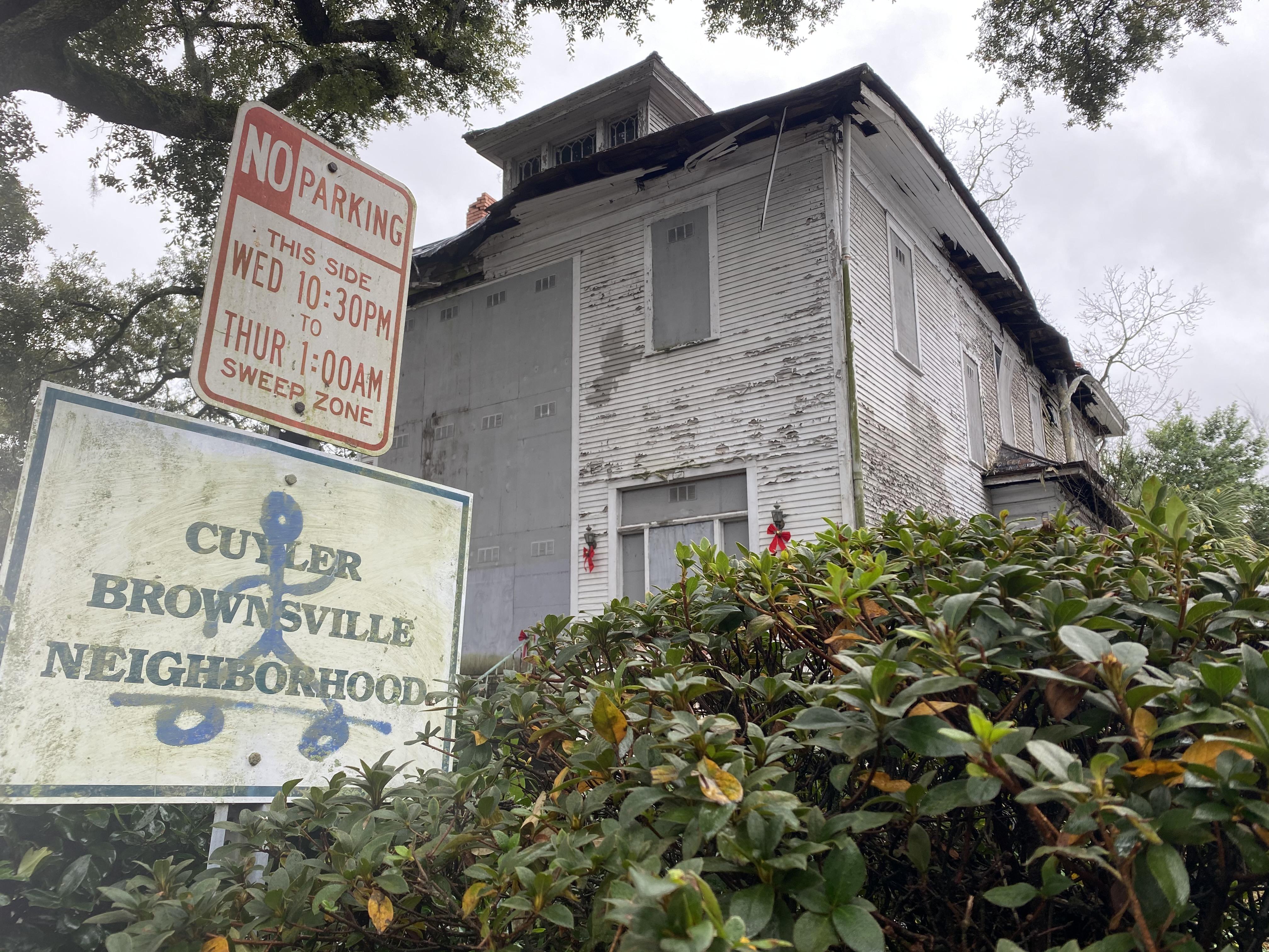 kiah house street view bville sign
